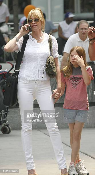 Melanie Griffith and Stella Banderas during Melanie Griffith Stella Banderas and Antonio Banderas Sighting in New York City June 29 2006 at New York...