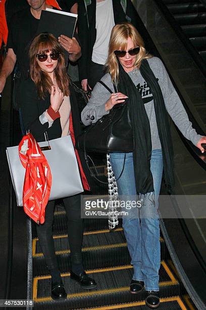 Melanie Griffith and Stella Banderas seen at LAX on October 19 2014 in Los Angeles California