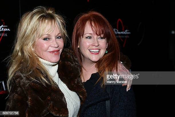 Melanie Griffith and Tracy Griffith attend Harper's Bazaar International Celebrates Fashion Cinema at Provocateur on February 11 2016 in New York City