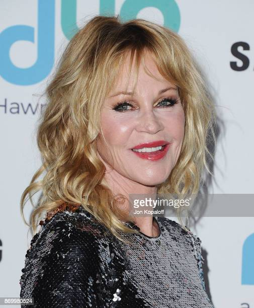 Melanie Griffith arrives at Goldie's Love In For Kids at Ron Burkle's Green Acres Estate on November 3 2017 in Beverly Hills California