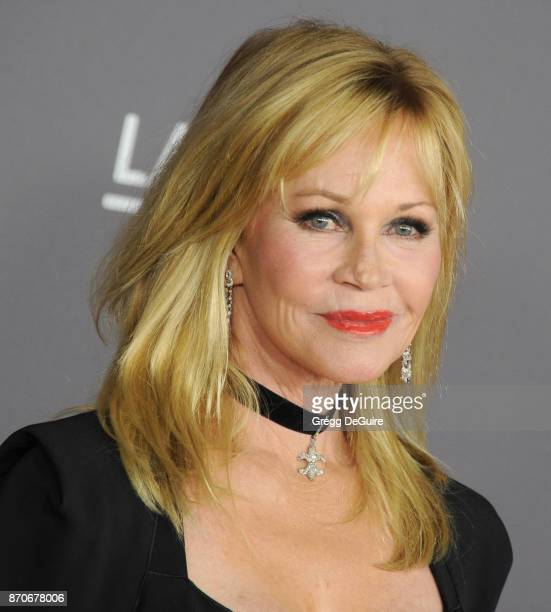 Melanie Griffith arrives at the 2017 LACMA Art Film Gala honoring Mark Bradford and George Lucas at LACMA on November 4 2017 in Los Angeles California