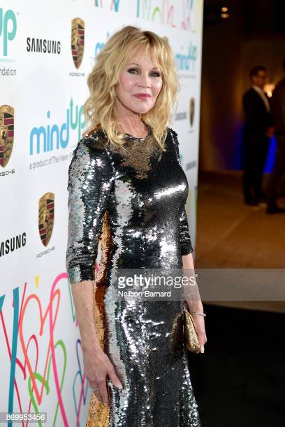 Melanie Griffith attends Goldie's Love In For Kids at Ron Burkle's Green Acres Estate on November 3, 2017 in Beverly Hills, California.