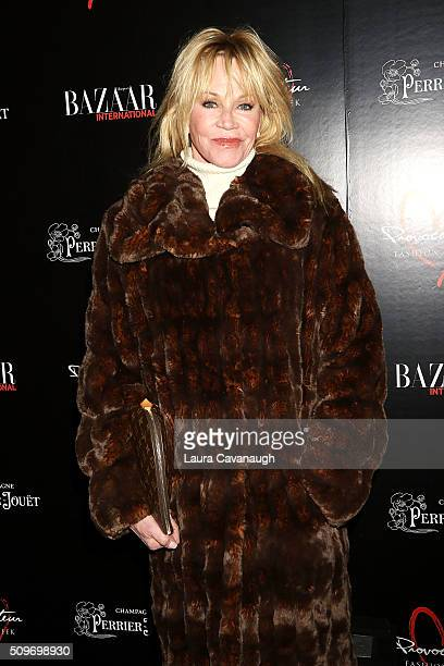 Melanie Griffith attends Harper's Bazaar International Celebrates Fashion Cinema at Provocateur on February 11 2016 in New York City