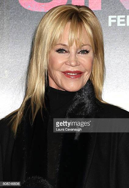 Melanie Griffith attends 'How To Be Single' New York Premiere Arrivals at NYU Skirball Center on February 3 2016 in New York City