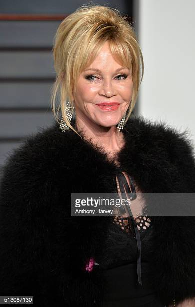 Melanie Griffith attends the 2016 Vanity Fair Oscar Party hosted By Graydon Carter at Wallis Annenberg Center for the Performing Arts on February 28...