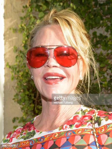 Melanie Griffith attends the Beats By Dre for Violet Gray party on July 11 2018 in West Hollywood California