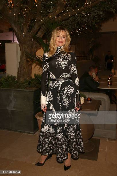 Melanie Griffith attends The Global Gift Gala London at the Kimpton Fitzroy Hotel on October 17, 2019 in London, England.
