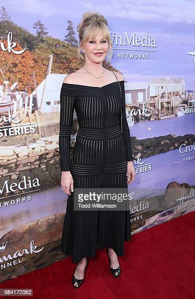 Melanie Griffith attends the Hallmark Channel And Hallmark Movies And Mysteries Summer 2016 TCA Press Tour Event on July 27 2016 in Beverly Hills...