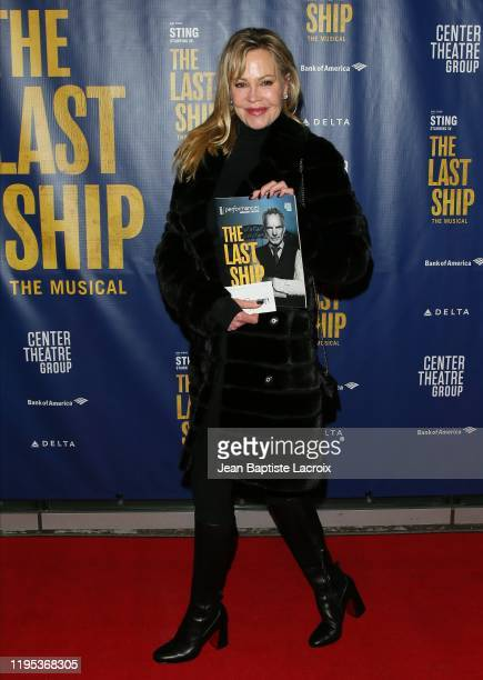 Melanie Griffith attends the The Last Ship Opening Night Performance held at Ahmanson Theatre on January 22, 2020 in Los Angeles, California.