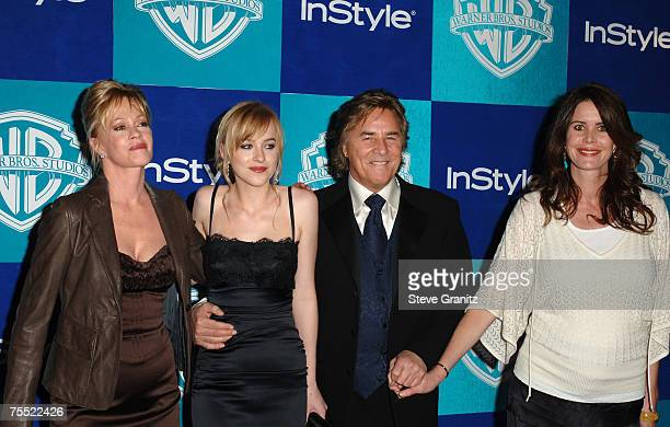 Melanie Griffith Dakota Johnson Don Johnson and guest at the Beverly Hilton in Beverly Hills California