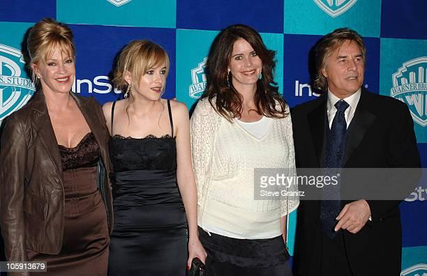 Melanie Griffith, Dakota Johnson, Don Johnson , and guest