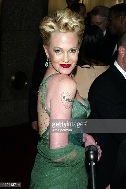 Melanie Griffith during 2003 Tony Awards at Radio City Music Hall in New York City, New York, United States.