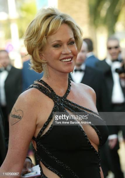Melanie Griffith during 2004 Cannes Film Festival Shrek 2 Premiere at Palais Du Festival in Cannes France