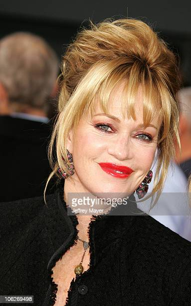 Melanie Griffith during Columbia Pictures' 'The Legend of Zorro' Los Angeles Premiere Arrivals at Orpheum Theater in Los Angeles California United...
