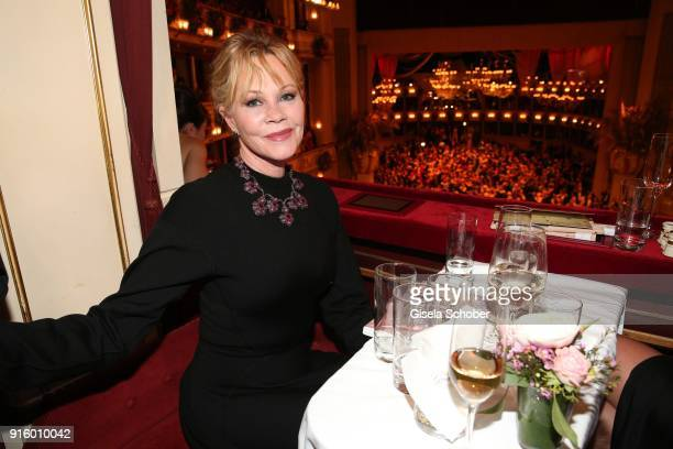 Melanie Griffith during the Opera Ball Vienna at Vienna State Opera on February 8 2018 in Vienna Austria