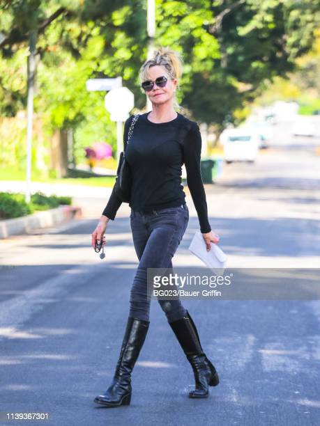 Melanie Griffith is seen on April 25 2019 in Los Angeles California