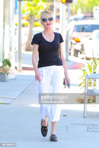 Melanie Griffith is seen on March 31 2017 in Los Angeles California