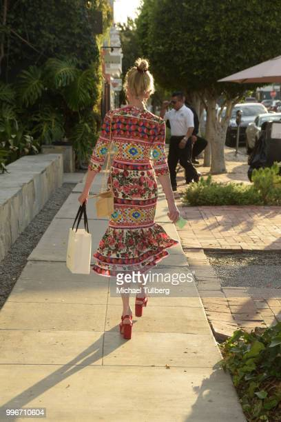 Melanie Griffith leaving the Beats By Dre for Violet Gray party on July 11 2018 in West Hollywood California