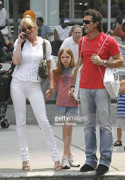Melanie Griffith Stella Banderas and Antonio Banderas