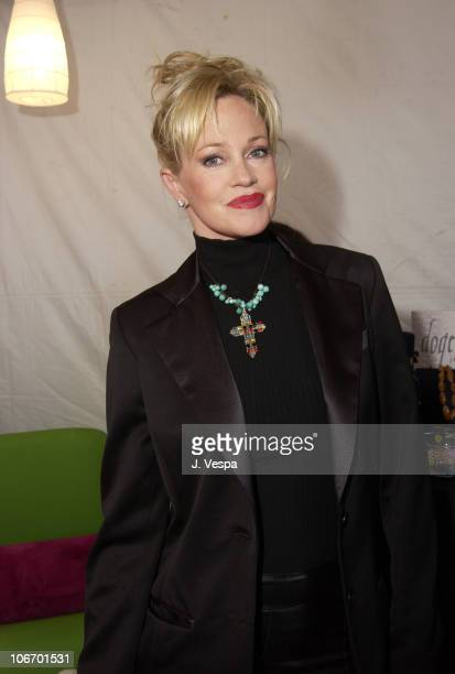 Melanie Griffith wearing a Dogeared necklace during Nickelodeon's 15th Annual Kids Choice Awards Backstage Creations Talent Retreat Day 2 at Barker...