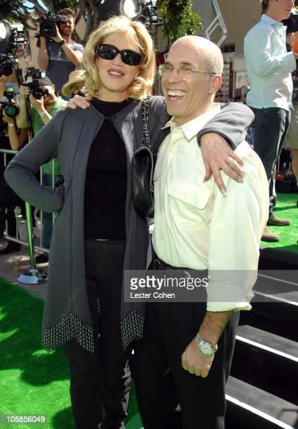 Melanie Griffith with Jeffrey Katzenberg of DreamWorks