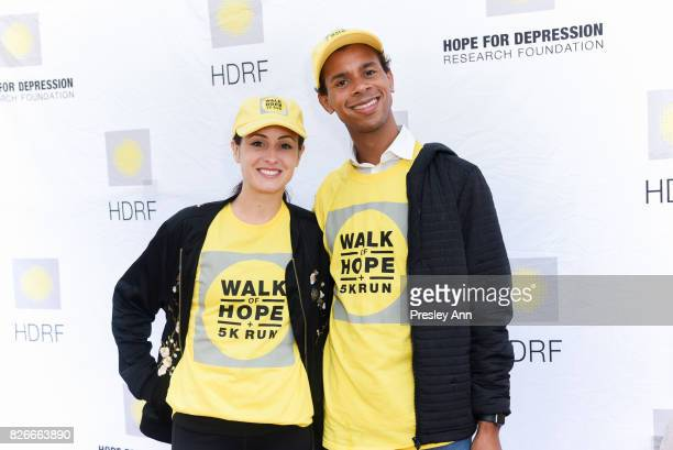 Melanie Hamrick and Jose Sebastian attend Hope for Depression Research Foundation's Walk of Hope 5K Run at Southampton Cultural Center on August 5...