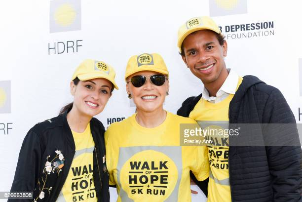 Melanie Hamrick Audrey Gruss and Jose Sebastian attend Hope for Depression Research Foundation's Walk of Hope 5K Run at Southampton Cultural Center...