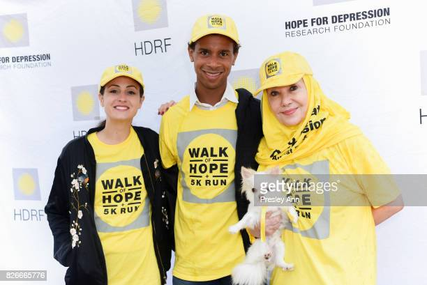 Melanie Hamrick Jose Sebastian and Susan Gutfreund attend Hope for Depression Research Foundation's Walk of Hope 5K Run at Southampton Cultural...