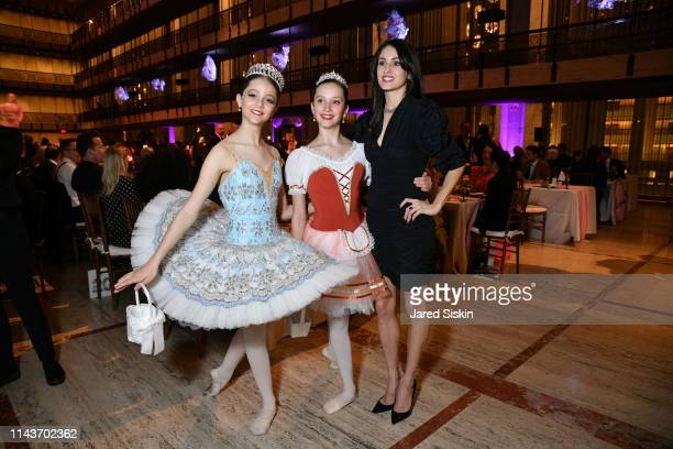 Melanie Hamrick poses with ballerinas at the YAGP's 20th Anniversary Gala 'Stars Of Today Meets The Stars Of Tomorrow at David Koch Theatre at...