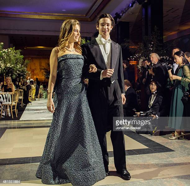 Melanie Hottinguer and Marquis Aloisio Carrassi del Villar are photographed for Vanity Fair Magazine on November 28 2014 at the 2014 Bal des...