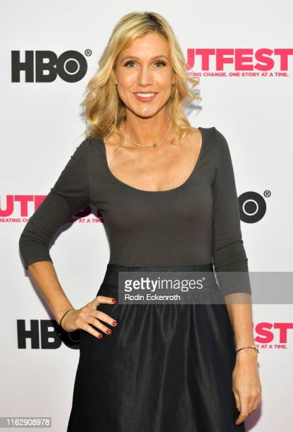 Melanie Hutsell attends the Outfest Los Angeles LGBTQ Film Festival Opening Night Gala premiere of Circus Of Books at Orpheum Theatre on July 18 2019...