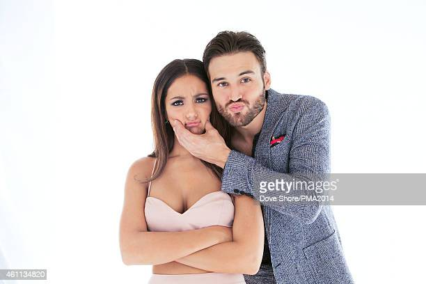 Melanie Iglesias and Ryan Guzman is photographed at the at the 2014 PEOPLE Magazine Awards on December 18 2014 in Los Angeles California