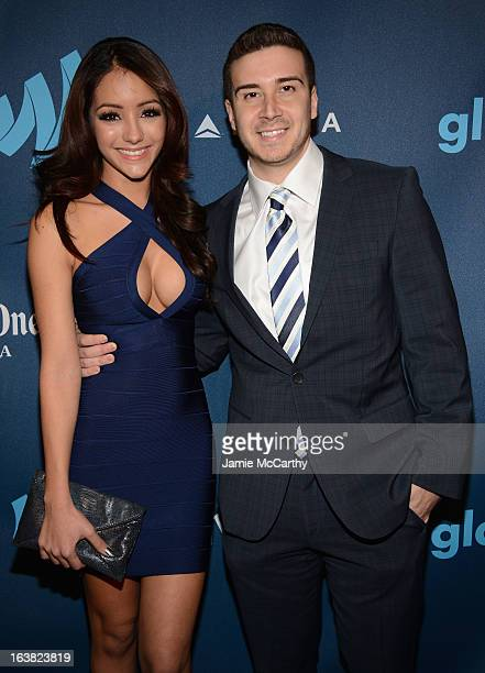 Melanie Iglesias and Vinny Guadagnino attend the 24th Annual GLAAD Media Awards on March 16 2013 in New York City