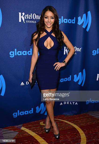 Melanie Iglesias attends the 24th Annual GLAAD Media Awards on March 16 2013 in New York City