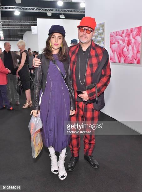 Melanie Innocenti and Marco Innocenti at OPENING NIGHT   ART LOS ANGELES CONTEMPORARY 9TH EDITION at Barkar Hangar on January 25 2018 in Santa Monica...