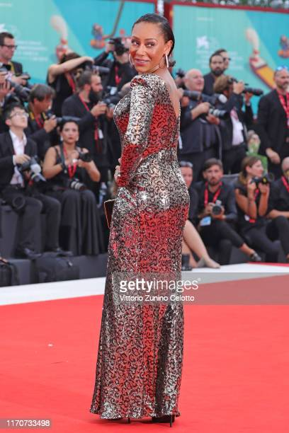 Melanie Janine Brown known as Mel B walks the red carpet ahead of the Opening Ceremony and the La Vérité screening during the 76th Venice Film...