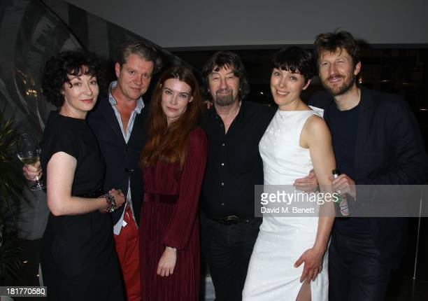 Melanie Jessop Shane Attwooll Aislinn Sands Trevor Nunn Olivia Williams and Mark Bazeley pose during post show drinks at the press night for 'Scenes...