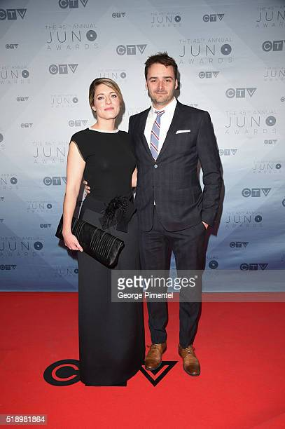 Melanie Joly arrives at the 2016 Juno Awards at Scotiabank Saddledome on April 3 2016 in Calgary Canada