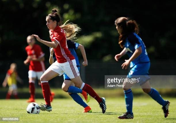 Melanie Keunrath of FC Bayern Munich II during the match between 1899 Hoffenheim II and FCB Muenchen II at St Leon football ground on May 21 2017 in...