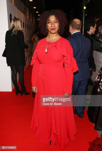 Melanie La Barrie attends the 18th Annual WhatsOnStage Awards at the Prince Of Wales Theatre on February 25 2018 in London England