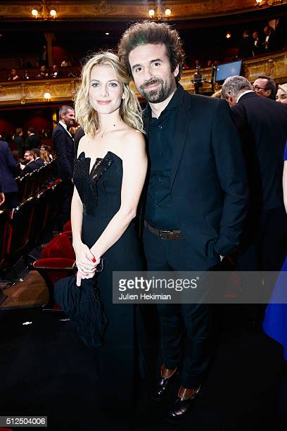 Melanie Laurent and a friend pose during The Cesar Film Award 2016 at Theatre du Chatelet on February 26 2016 in Paris France