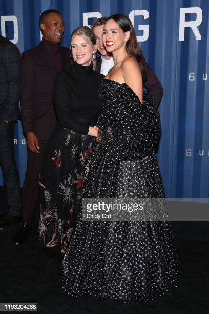 Melanie Laurent and Adria Arjona attend Netflix's 6 Underground New York Premiere at The Shed on December 10 2019 in New York City