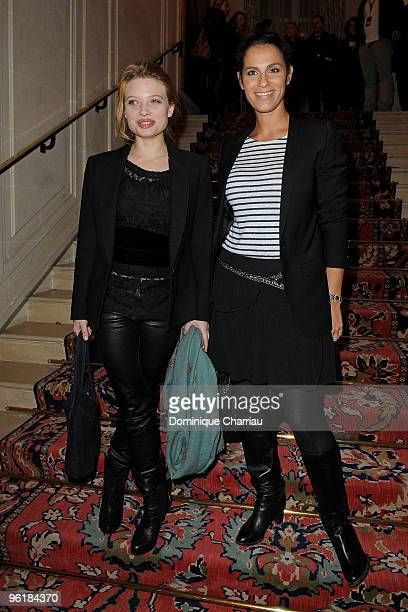 Melanie Laurent and Elisa Tovati attend Etam Spring/Summer 2010 Collection Launch by Natalia Vodianova at Hotel Ritz on January 25 2010 in Paris...