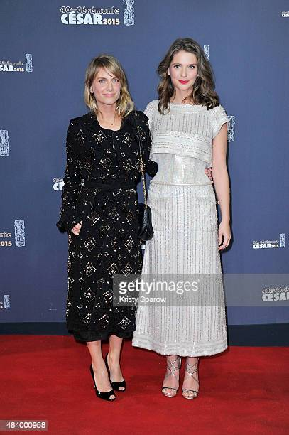 Melanie Laurent and Josephine Japy attend the 40th Cesar Film Awards at Theatre du Chatelet on February 20 2015 in Paris France
