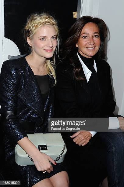 Melanie Laurent and Katya Toledano attend Maxime Simoens Fall/Winter 2013 ReadytoWear show as part of Paris Fashion Week on March 3 2013 in Paris...
