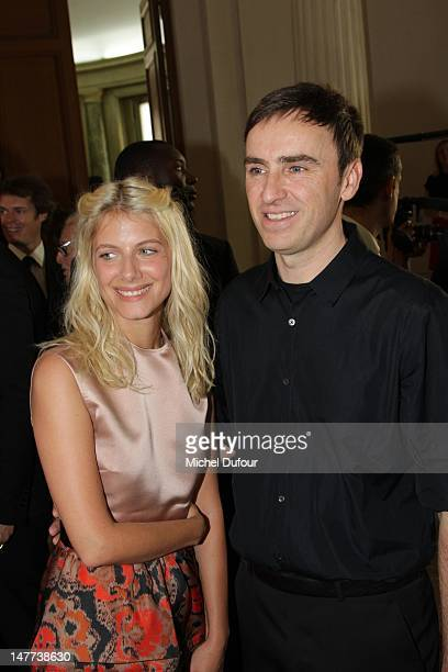 Melanie Laurent and Raf Simons attend the Christian Dior HauteCouture Show as part of Paris Fashion Week Fall / Winter 2013 on July 2 2012 in Paris...