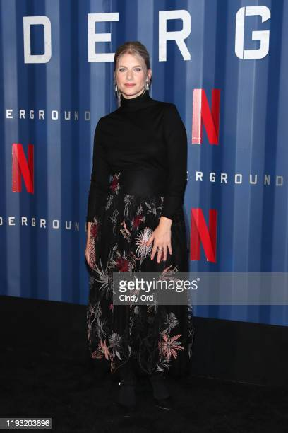 Melanie Laurent attends Netflix's 6 Underground New York Premiere at The Shed on December 10 2019 in New York City