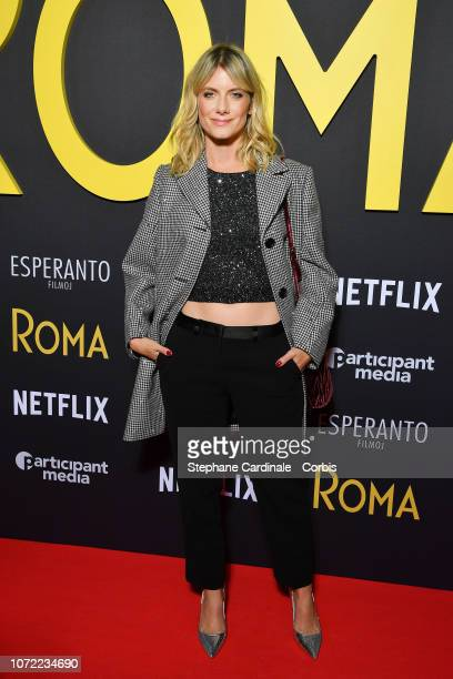 Melanie Laurent attends Roma Paris Premiere at Cinema Max Linder on December 12 2018 in Paris France