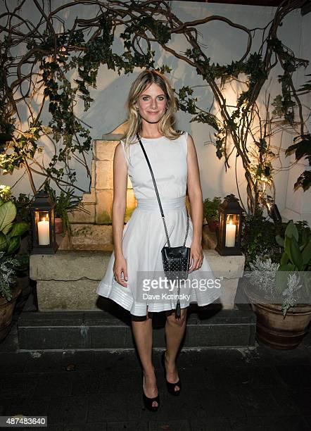 Melanie Laurent attends the after party for the screening of Film Movement's 'Breathe' hosted by The Cinema Society and Dior Beauty at Laduree Soho...