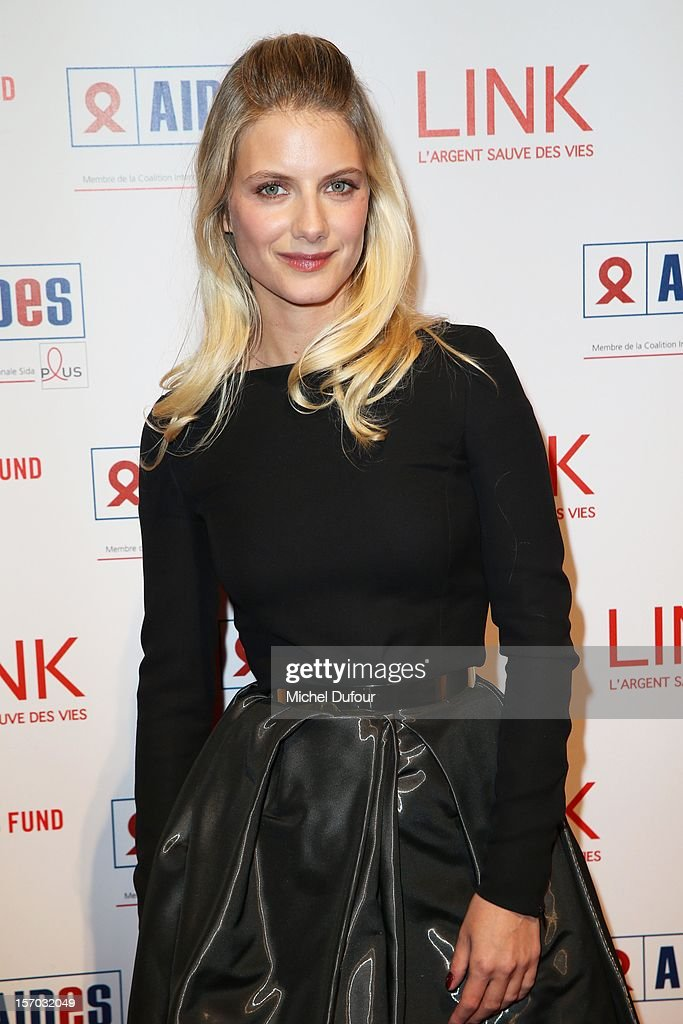 Melanie Laurent attends the AIDES International Gala Dinner at Grand Palais on November 27, 2012 in Paris, France.